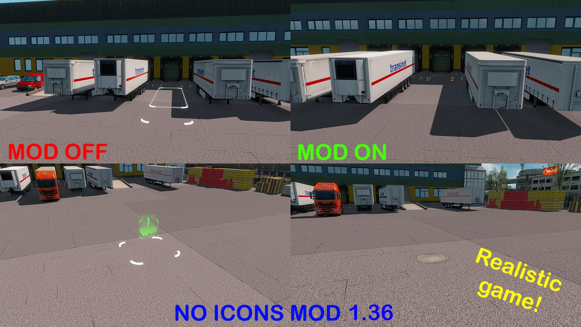 ETS2 - No Icons Mods (1.36.x)