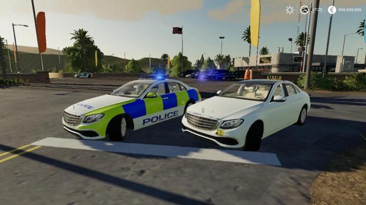 FS19 - Mercedes Sedan Hybrid UK Police / Taxi V1.0