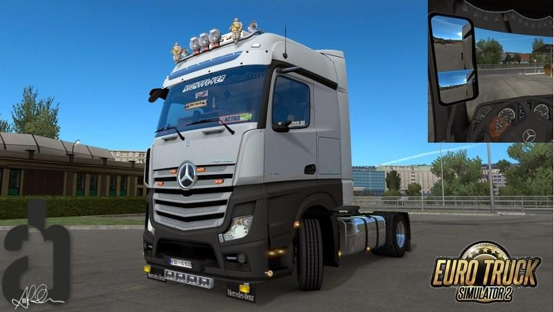 ETS2 - New Mirrors for Mercedes Actros MP4 V1.0 (1.35.X)