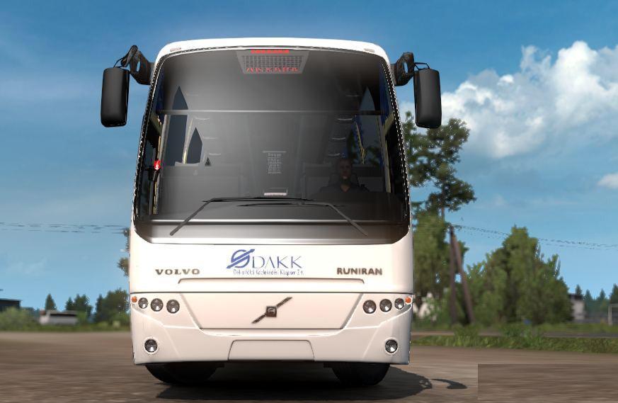 ETS2 - Volvo B12B TX Bus and DAKK Szeged Skin (1.36.x)