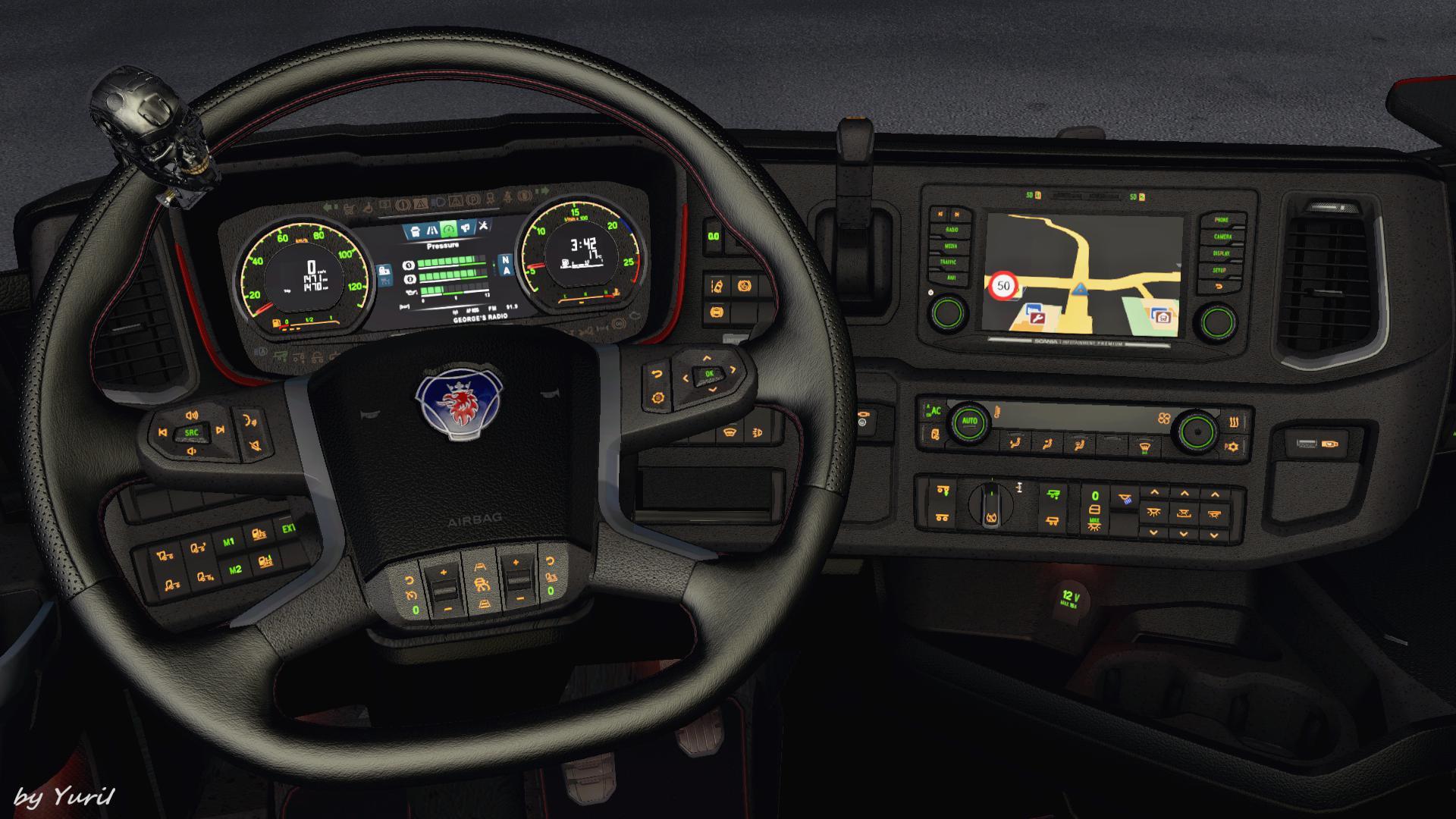 ETS2 - Dashboard Light Scania S/R 2016 Pack V1.1 (1.39.x)