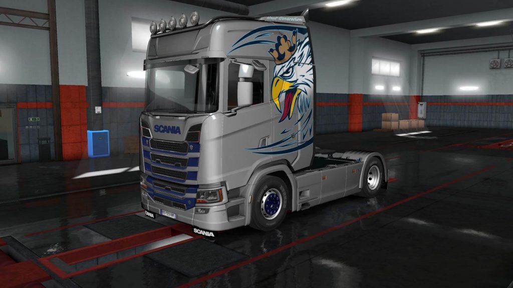 ETS2 - Scania S Griffin Skin V1.0 (1.35.x)