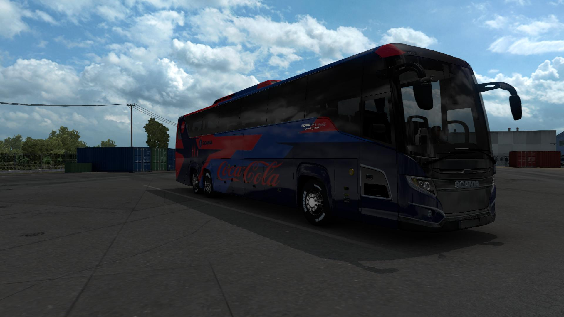 ETS2 - Scania Touring Cocala Officially Bus Skin Husni HD (1.39.x)
