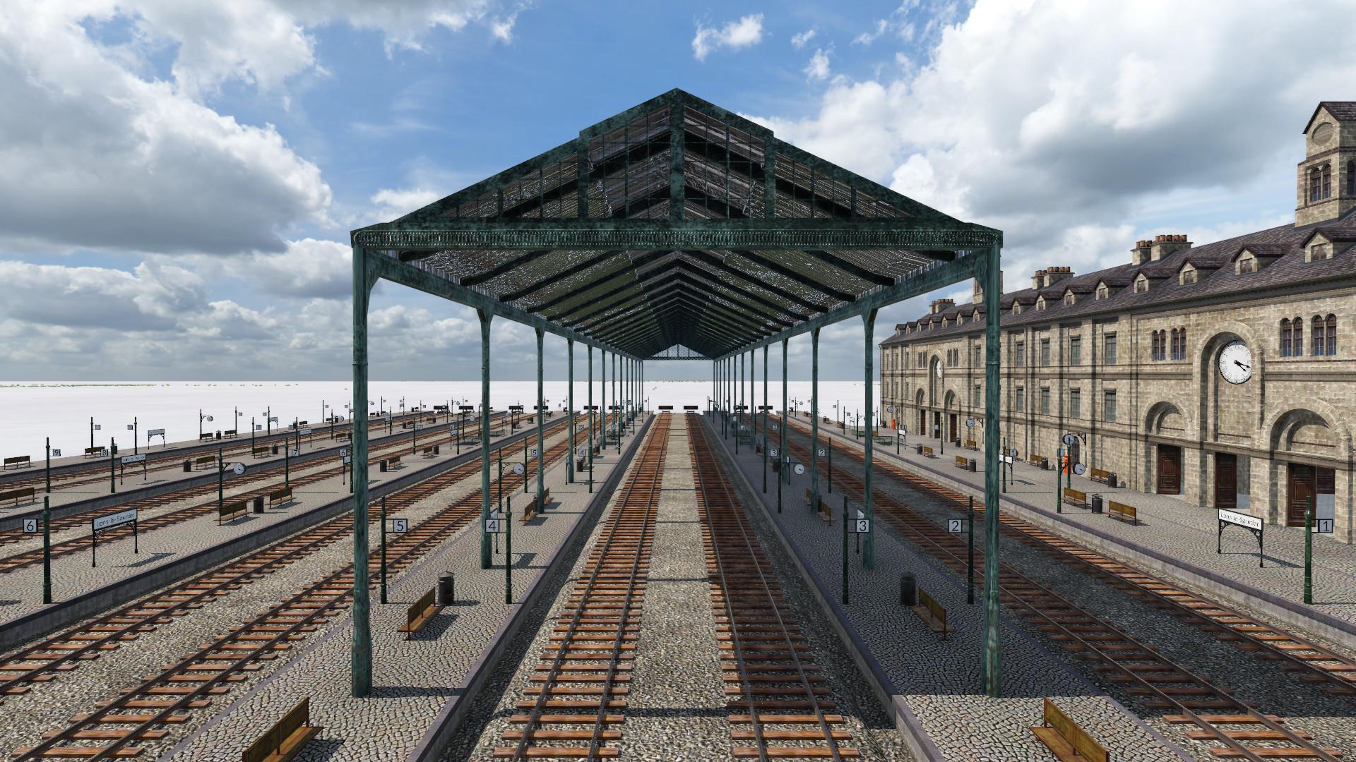 Transport Fever 2 - Perrache Modular Station Roof
