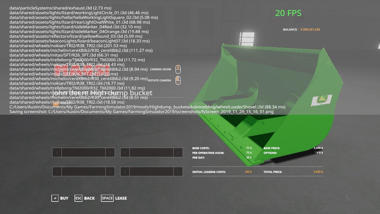 FS19 - John Deere Loader Bucket V2.0