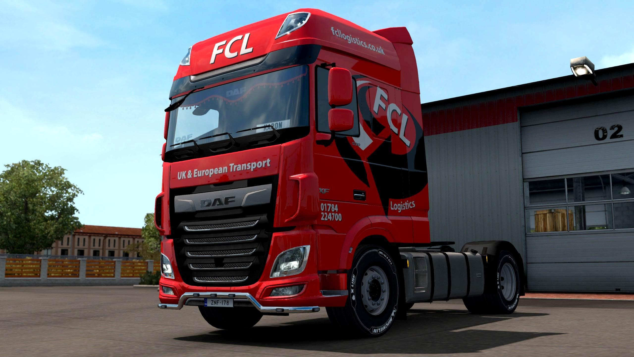 ETS2 - First Call Logistics DAF and Trailer Skin V1.0 (1.35.x)