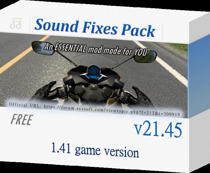 ATS - Sound Fixes Pack V21.45 (1.41.x)