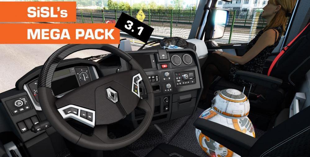 ETS2 - Mega Pack V3.1 (1.36.X)