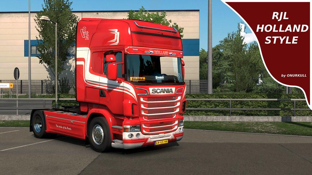ETS2 - Scania RJL Holland Skin V1.0 (1.36.x)