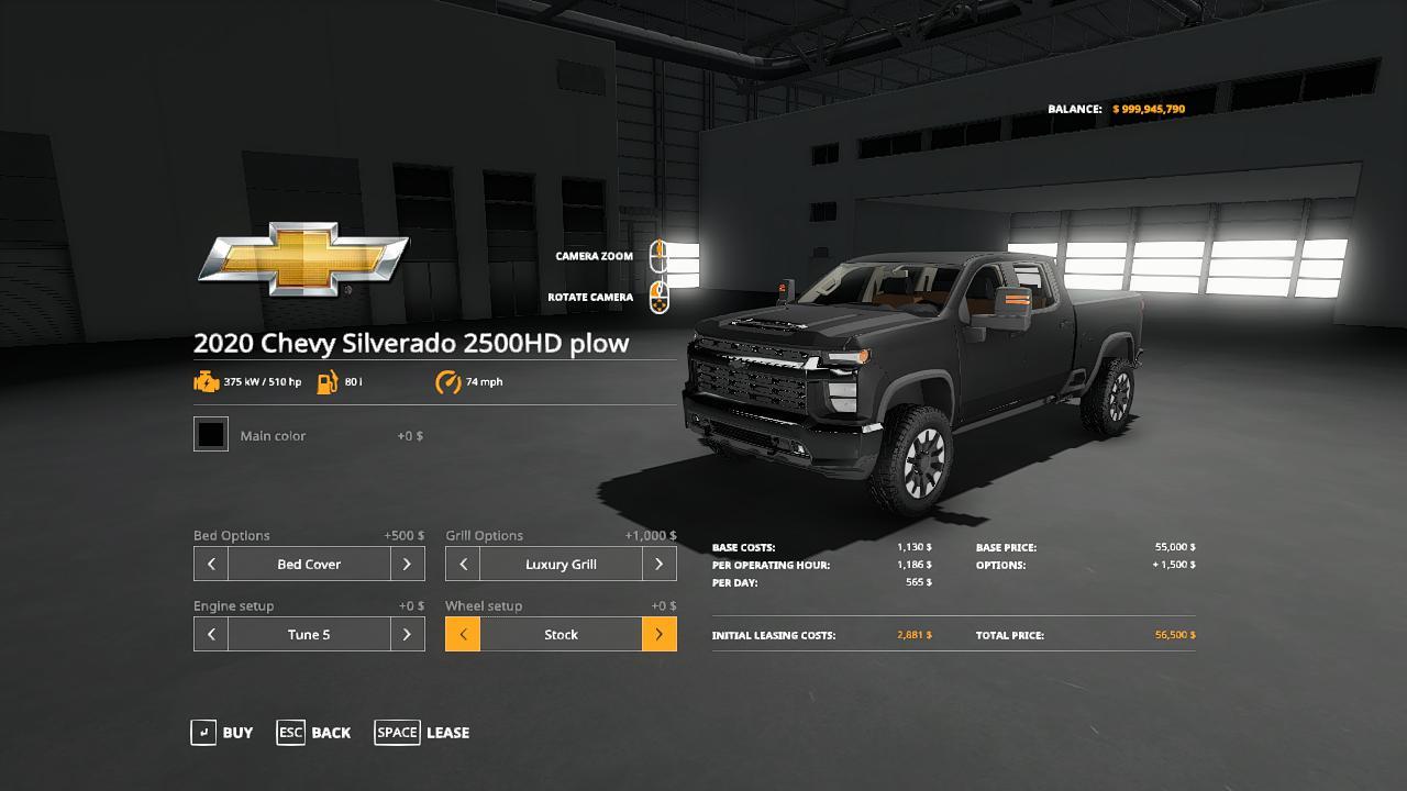 FS19 - 2020 Chevy Plow Truck V1.0
