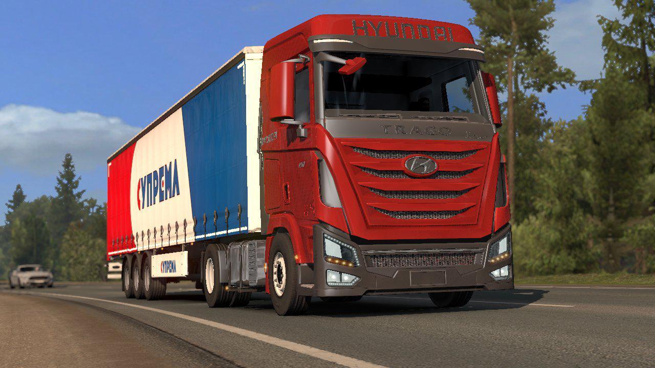 ETS2 - Hyundai Xcient Truck V0.2 (1.38.x)