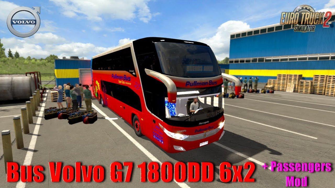 ETS2 - Bus Volvo G7 1800DD 6x2 + Passengers Mod V1.0 (1.35.X)