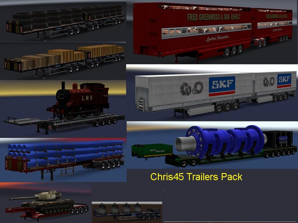 ETS2 - Chris45 Trailer Pack (Mostly UK Trailers) V9.16 (1.37.x)