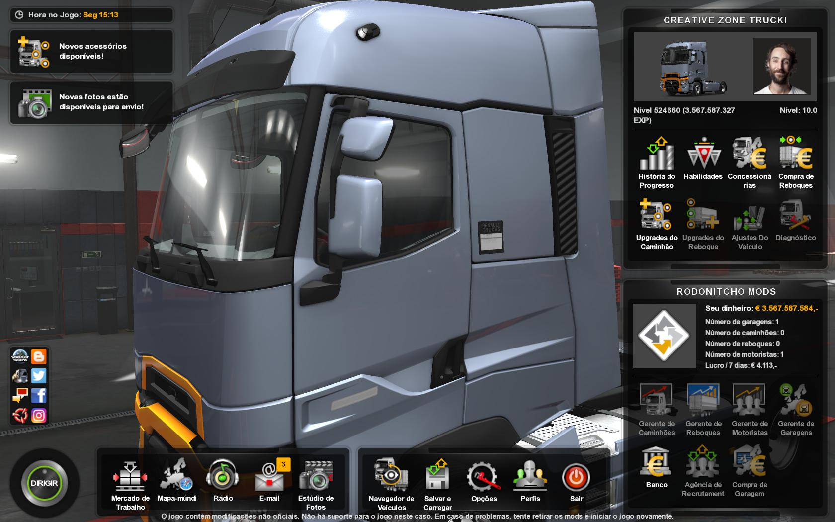 ETS2 - Profile Creative Zone Trucking Map (1.35.x)