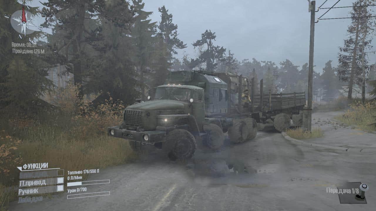 Spintires:Mudrunner - Ural 8×8 – Alteration Truck V1.0