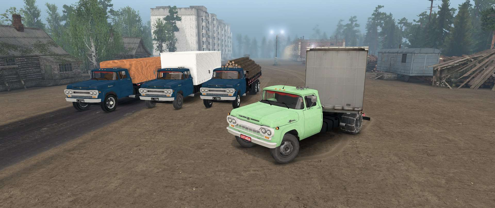 Spintires - Ford F-600 1960 e 1965 Truck