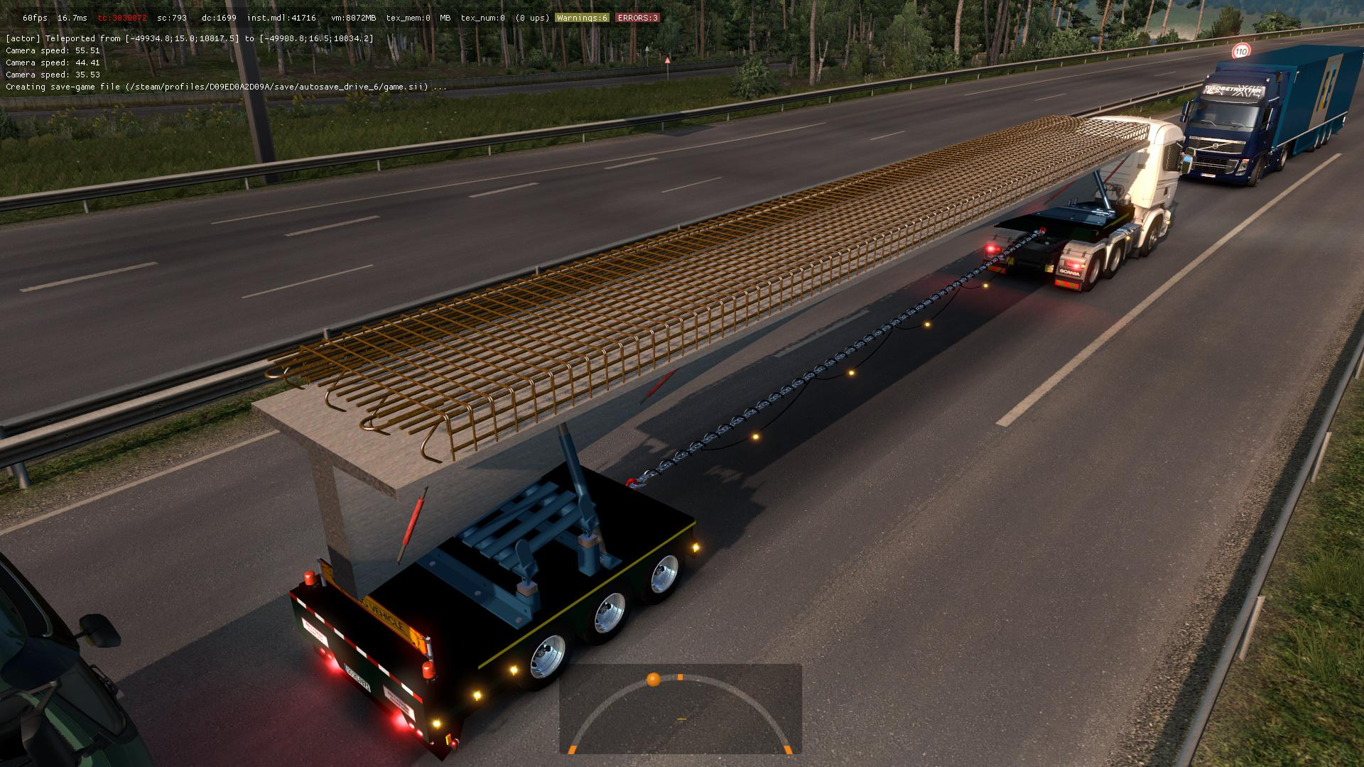 ETS2 - Trailers with Construction Structures in Traffic Mod (1.36.x)