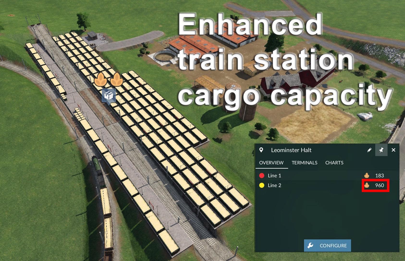 Transport Fever 2 - Enhanced Train Station Cargo Capacity