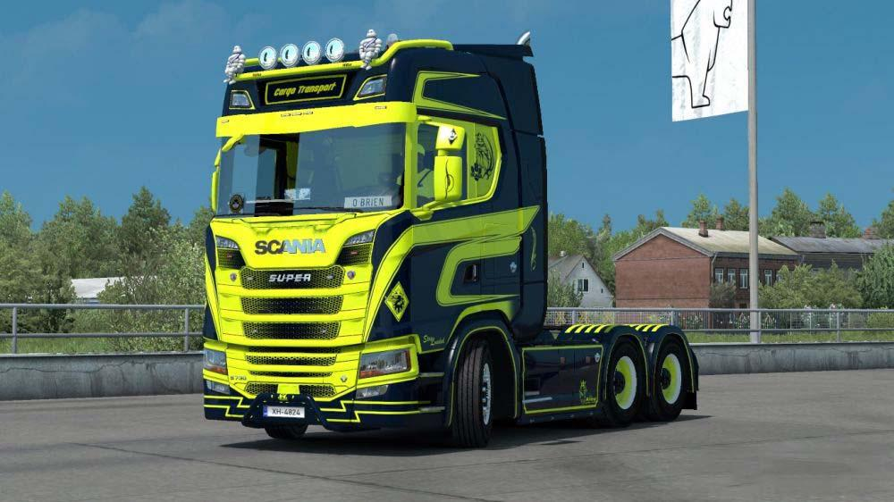 ETS2 - Scania S Cargo Transport + Trailer Skin V1.0 (1.35.X)