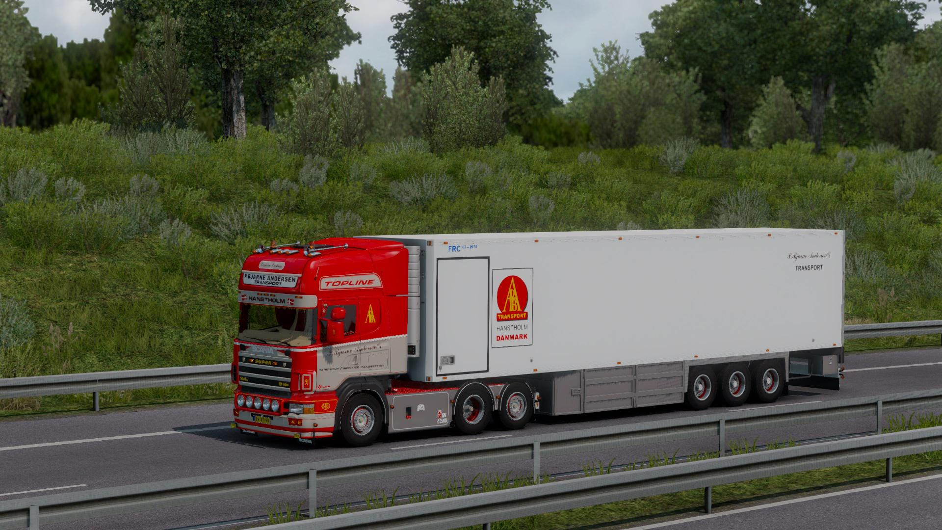 ETS2 - P.Bjarne Andersen Scania 164G 580 + Trailer (1.38 - 1.39)