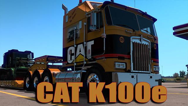 ETS2 - CAT K100E Skin V1.0 (1.35.X)