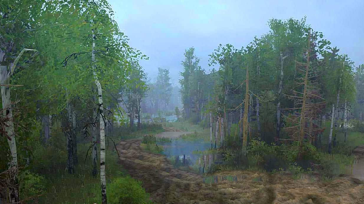 Spintires:Mudrunner - Krutinka Swamp Map V1.0