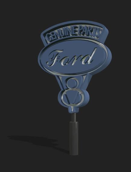 FS19 - Old Ford Sign V1.0