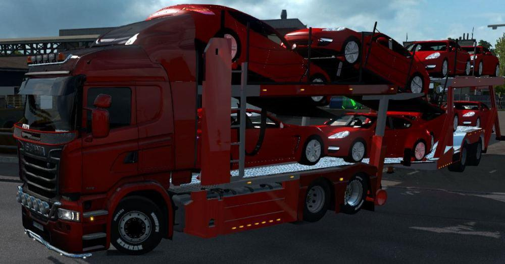 ETS2 - Carcarrier Autotransporter Truck And Trailer (1.37.x)