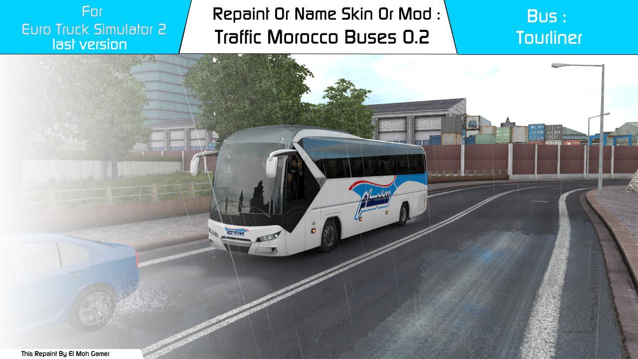 ETS2 - Traffic - Morocco Buses V0.2 (1.39.x)