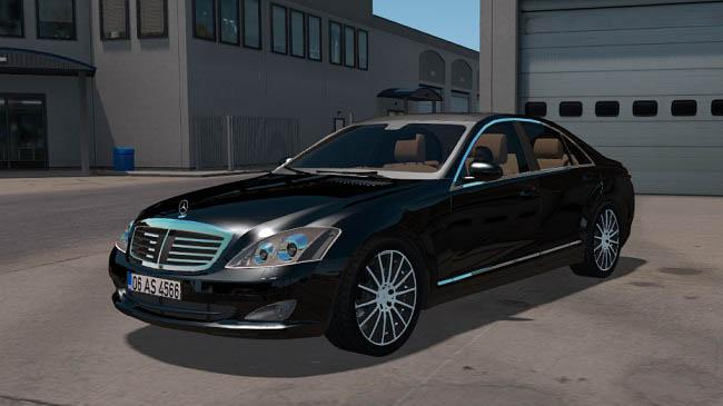ATS - Mercedes Benz S350 4Matic 2009 Car Mod V1.2 (1.35.X)