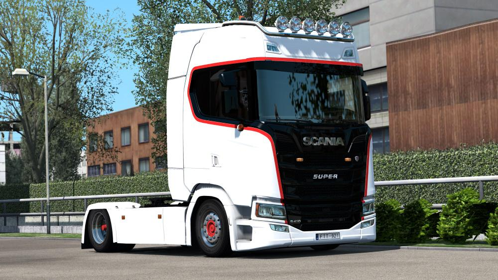 ETS2 - Scania S Paintable Kraemer Transport Reuver Skin (1.36.x)