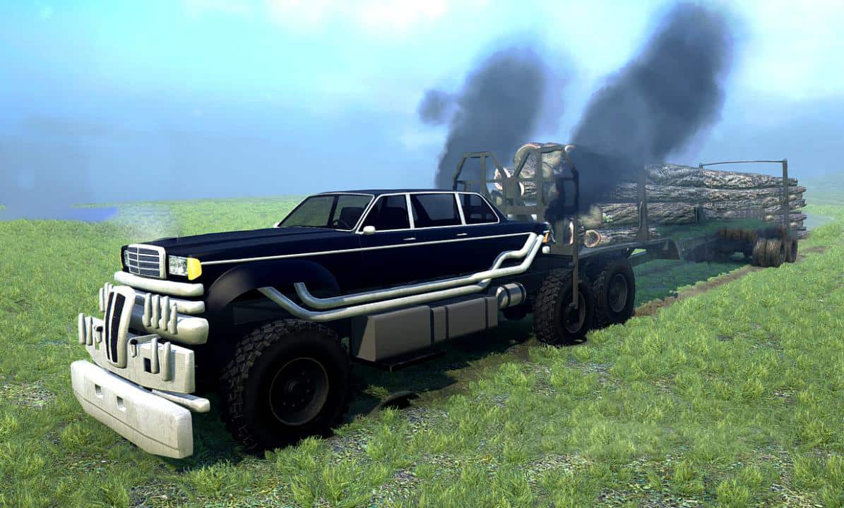 Spintires:Mudrunner - The People Eater's Limousine from Mad Max: Fury Road V1.0
