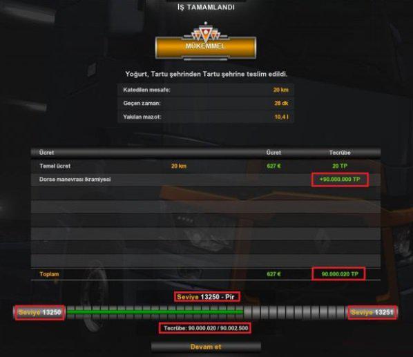 ETS2 - XP & Money Mod (1.36.x)