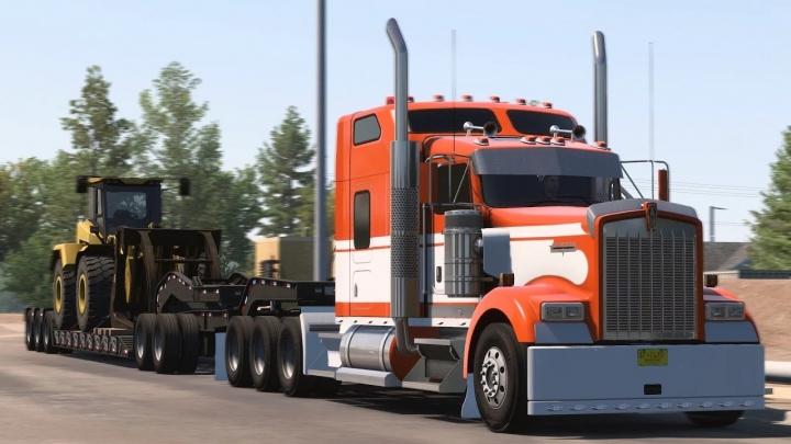 ATS - Custom SCS Kenworth W900 Truck V1.2 (1.40.x)