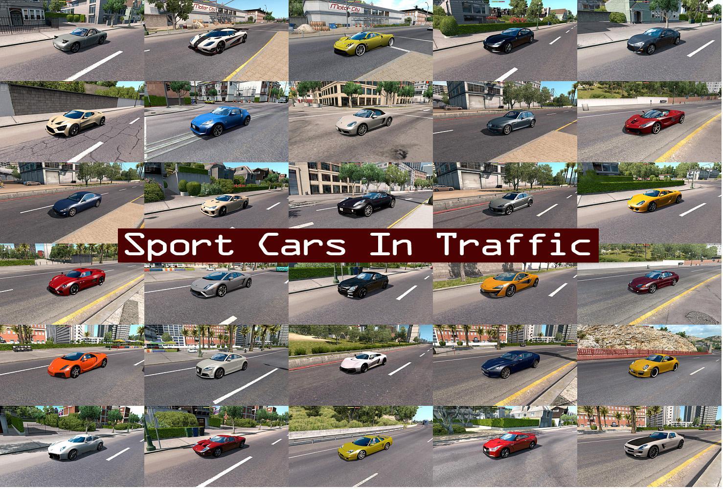 ATS - Sport Cars Traffic Pack V5.3 (1.36.x)