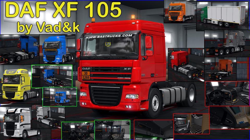ETS2 - Daf Xf 105 Truck V6.9 (1.36.x)