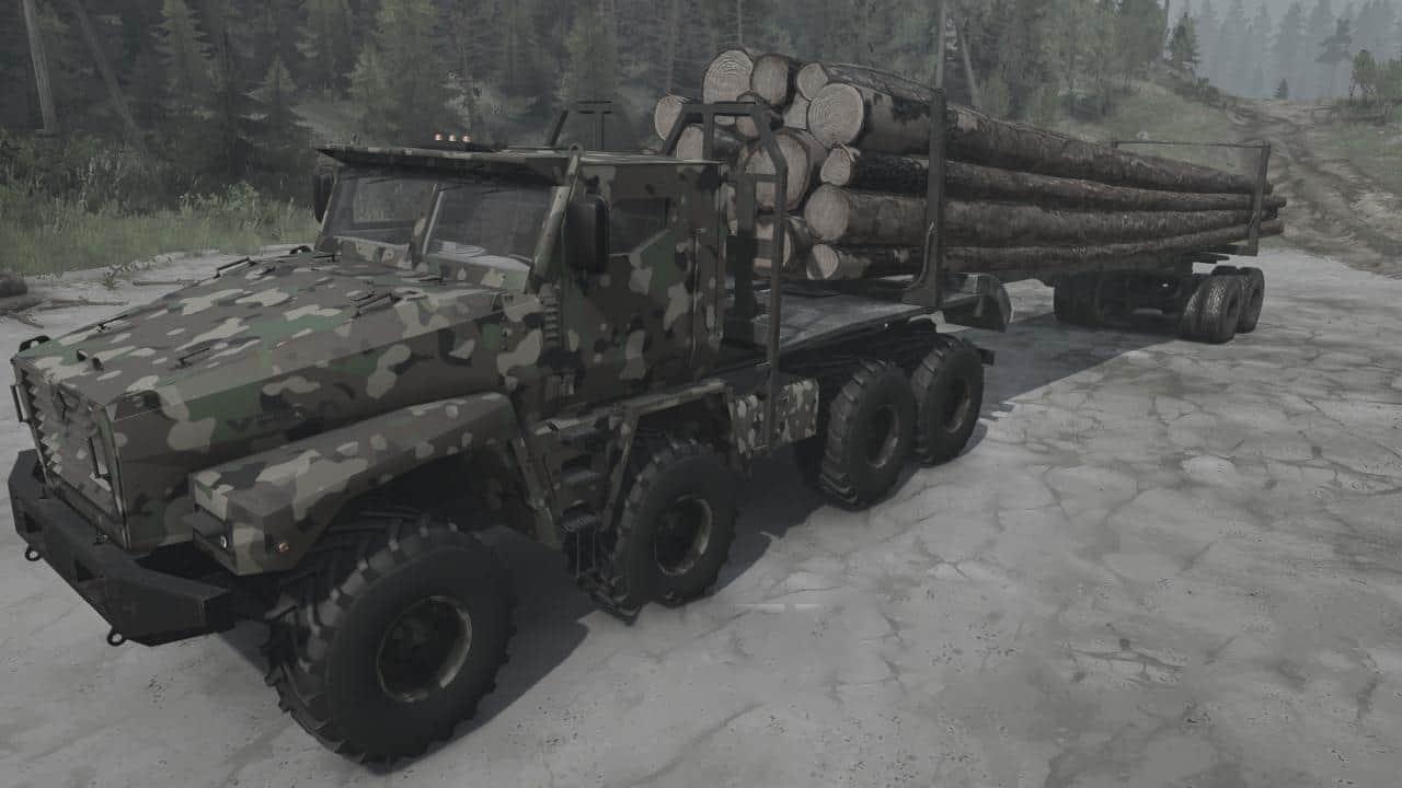 """Spintires:Mudrunner - Ural """"Alligator"""" Truck V18.12.19"""