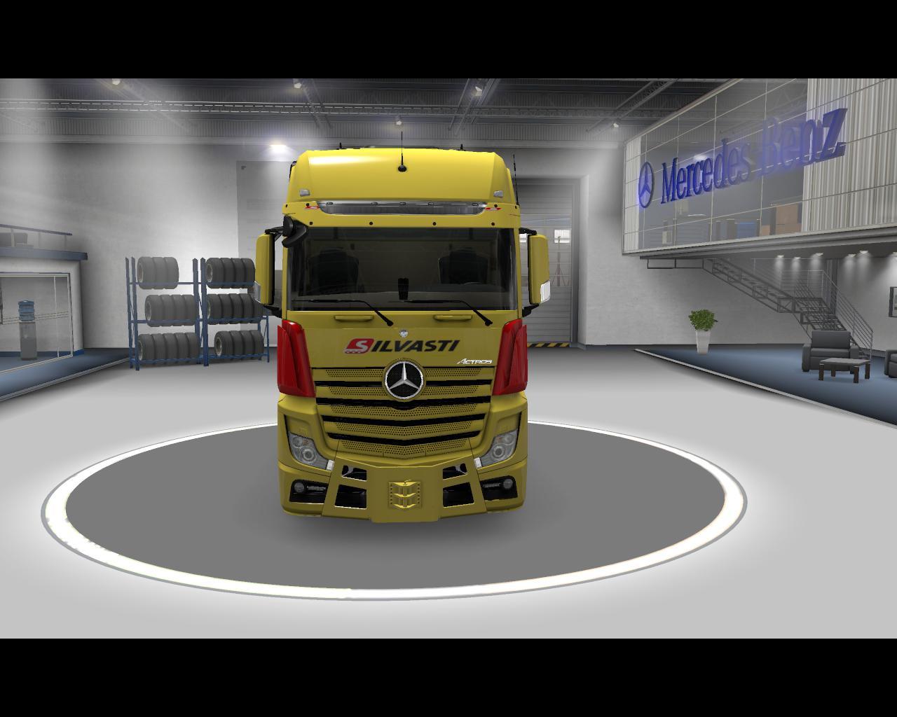 ETS2 - Mercedes-Benz Actros Silvasti Skins Fix V2.5 (1.37.x)