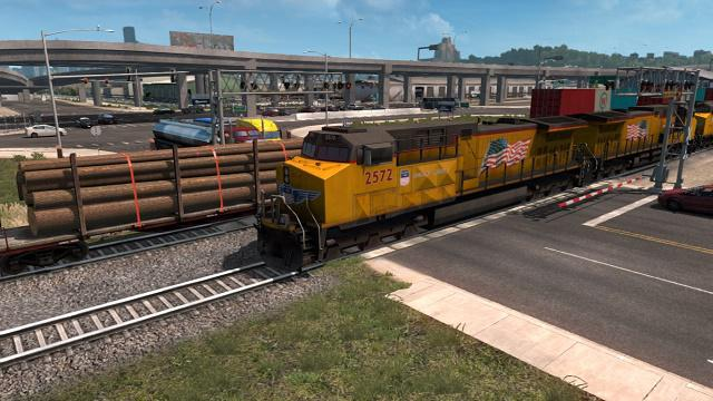 ATS - Long Trains Addon (Up to 150 Cars) for Improved Trains v3.2 (1.35.X)