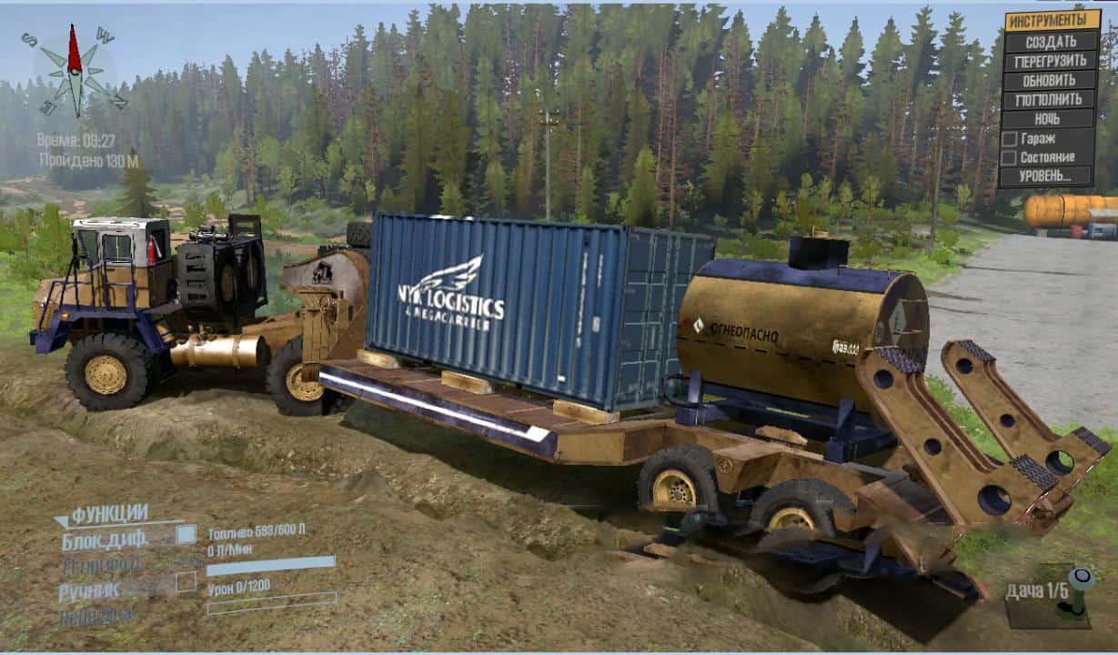 Spintires:Mudrunner - Belaz 7540 Truck V01