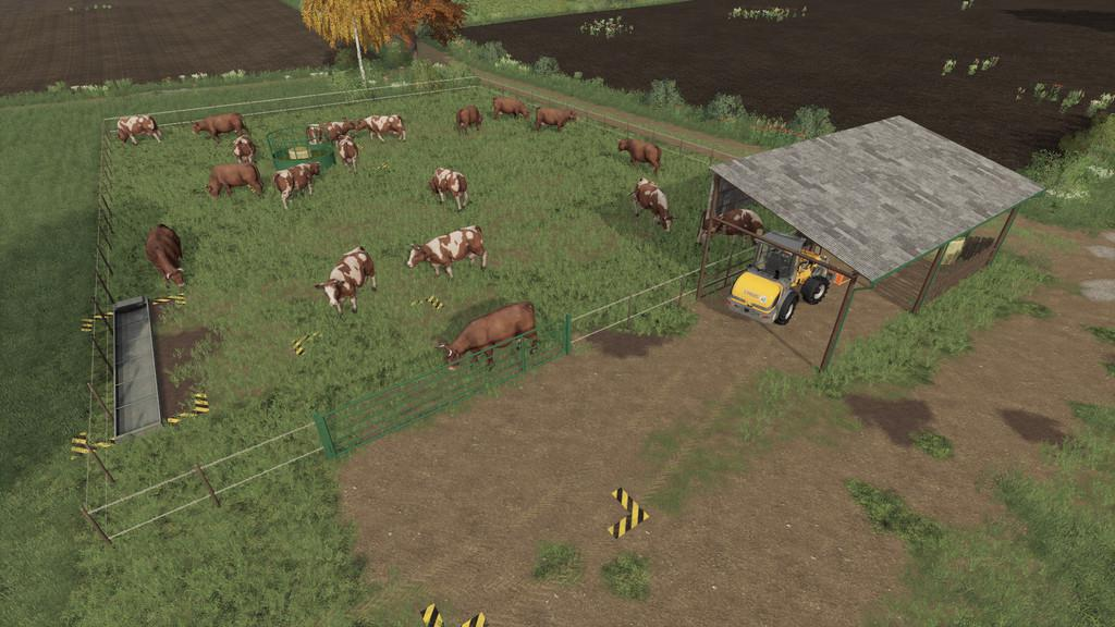 FS19 - Outdoor Cow Pasture V1.0