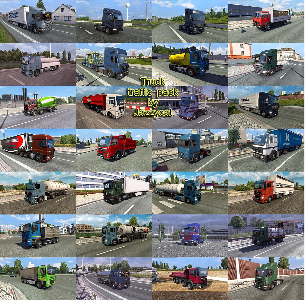 ETS2 - Truck Traffic Pack V3.8 (1.36.x)