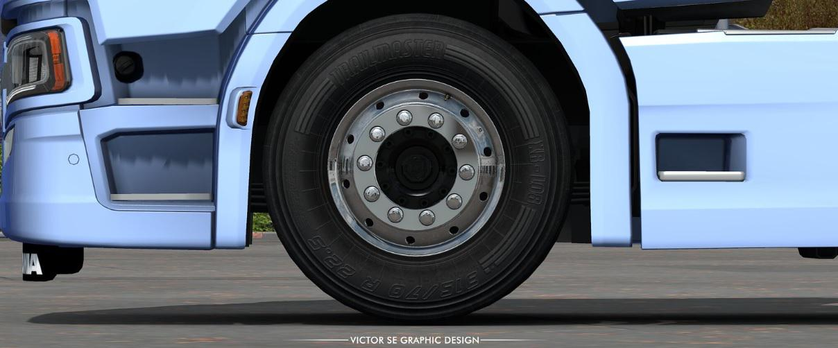 ETS2 - Dark Textures for Stock Truck & Owned Trailers Tires (1.35.x)