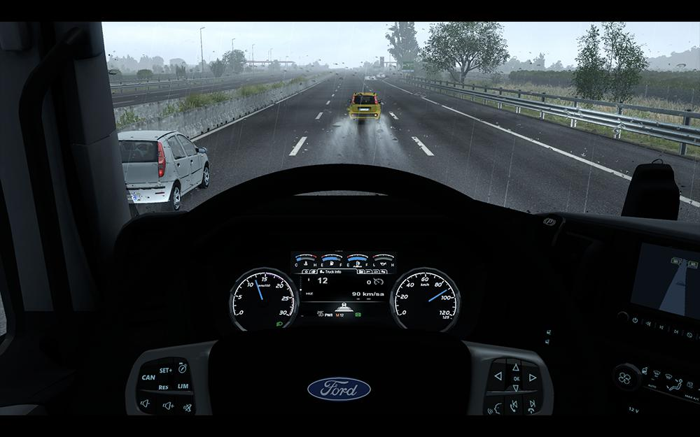 ETS2 - Dashboard Improvement for Ford F-Max v1.1 (1.35.X)