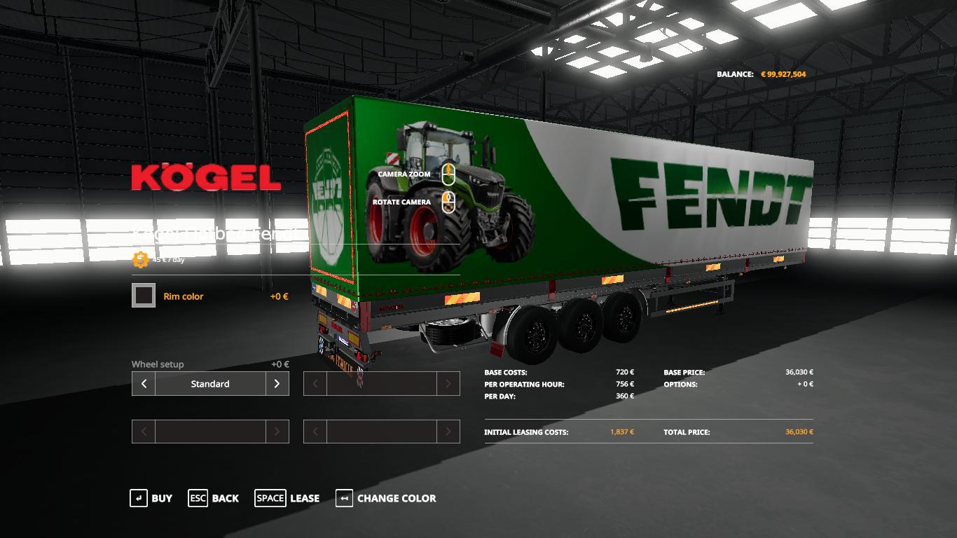 FS19 - Fendt Kogel Autoloader Trailer V1.0