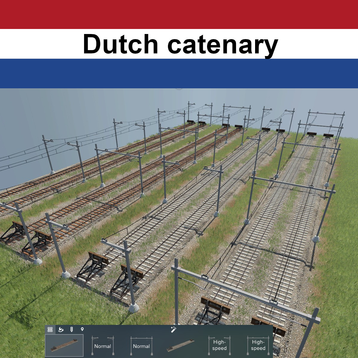 Transport Fever 2 - Dutch Catenary Set