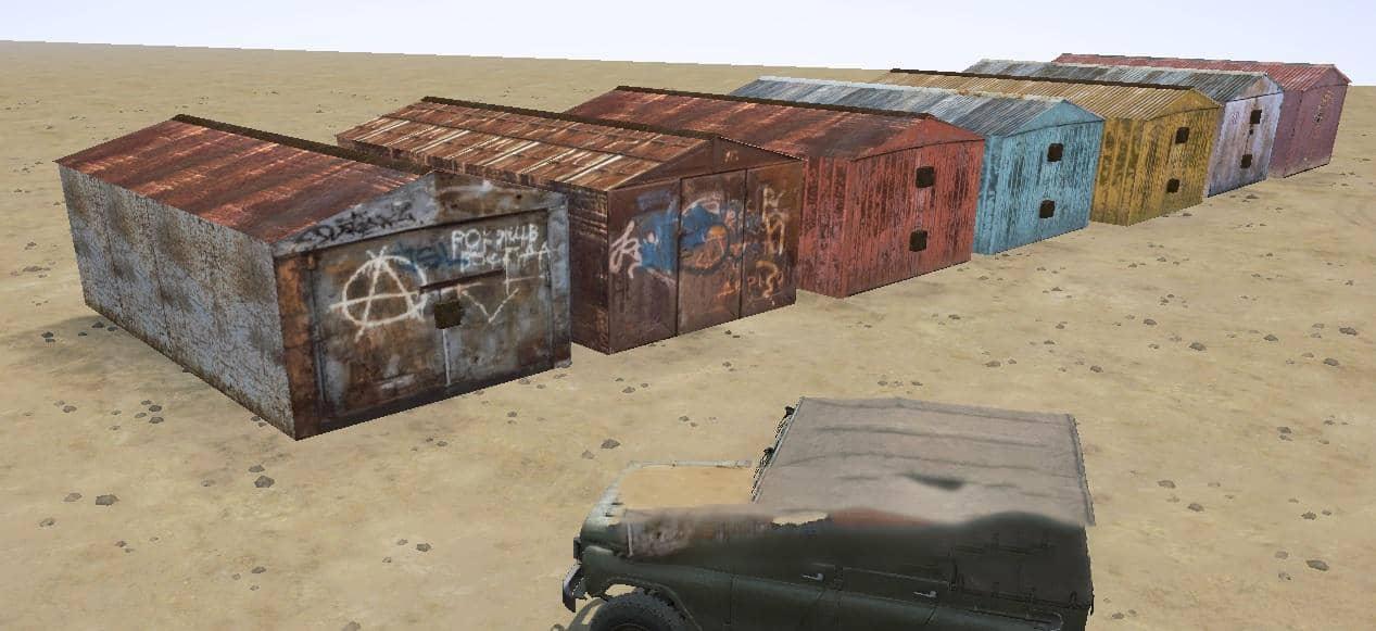 Spintires:Mudrunner - Objects Garages V1