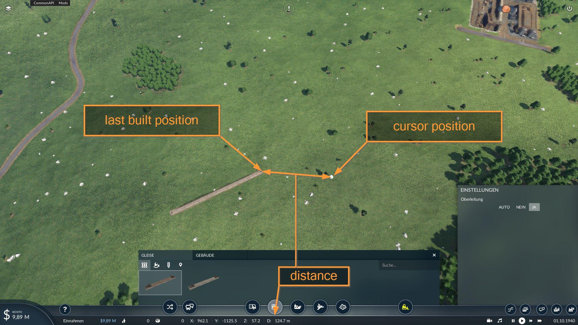 Transport Fever 2 - Distance Meter