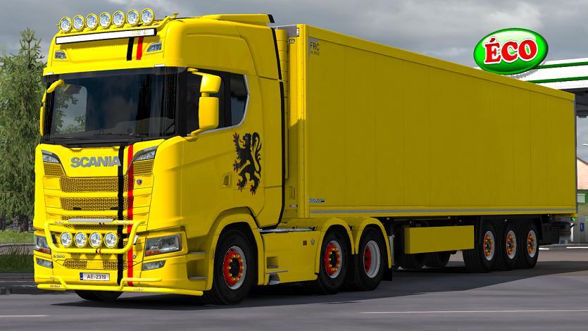 ETS2 - Scania R/S V8 Crackle Sound Mod (1.36.x)