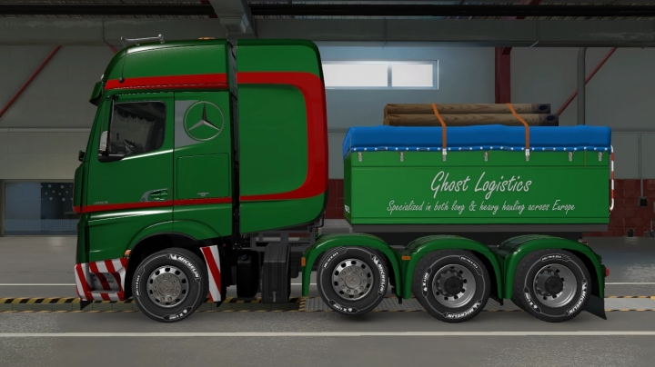 ETS2 - Custom Chassis for Mercedes Actros 2014 (1.40.x)